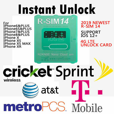 R-SIM 14 RSIM Nano Unlock Card for iPhone XS MAX XR XS X 8 7 6 Plus IOS 12+