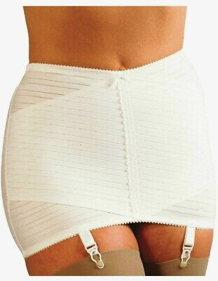 SILHOUETTE LITTLE X OPEN CROSS GIRDLE with SUSPENDERS Size 3 or 5 ~WT~ WHITE XN1