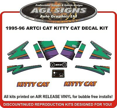1995 1996  ARCTIC CAT KITTY CAT  Reproduction Decal Kit