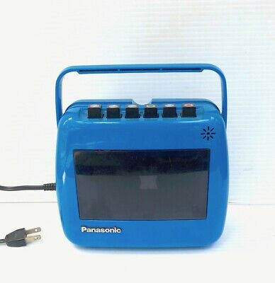 """Panasonic """"Take-'N-Tape"""" Cassette Tape Player/Recorder RQ-711S Blue Early 1970's"""