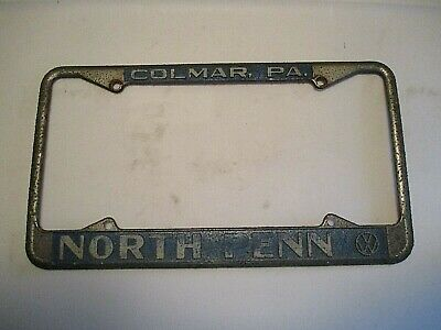 North Penn VW Vintage early 70's  Metal License Plate Frame