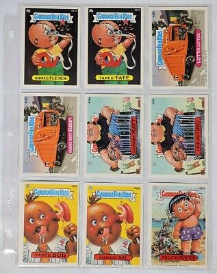 ESA3702 VINTAGE Set of 9: GARBAGE PAIL KIDS Sticker Cards 427a-431a Topps (1987)