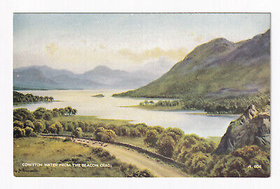 Printed Postcard, Coniston Water from the Beacon Crag, Lake District