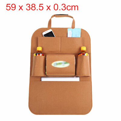 Brown Multi-Pocket Storage Bag Car Vehicle Seat Back Hanger Holder Organizer