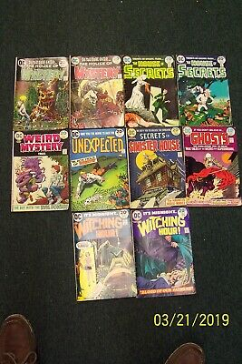 Lot of 10 DC Mystery, Ghost, Secrets, and Witch Comic Books - Assorted