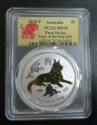 2018- P Australia Year Of The Dog PCGS MS70 First Strike