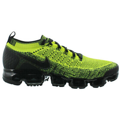 Nike Air Vapormax Flyknit 2 Mens 942842-701 Volt Black Running Shoes Size 12