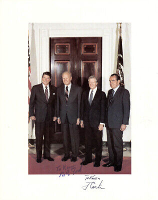 "James E. ""Jimmy"" Carter - Autographed Inscribed Photograph With Co-Signers"