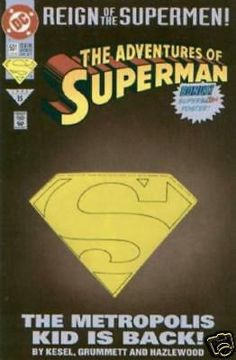 10 copies as wholesale lot DC COMIC ADVENTURES OF SUPERMAN #501 DELUXE ED.BIN 7