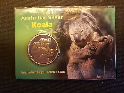 1 Oz Fine Silver Koala Legal Tender Coin Australien 2008 31.1g .999 Silber