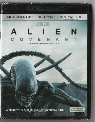 New Sealed 4K Ultra HD + Blu-Ray - Digital - ALIEN COVENANT -  Also In French