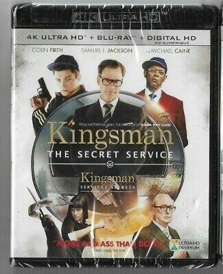New Sealed 4K Ultra HD + Blu-Ray - Digital KINGSMAN SECRET SERVICE  Also French