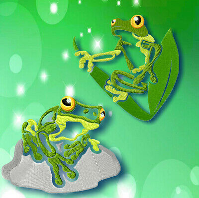 TROPICAL FROGS  10 MACHINE EMBROIDERY DESIGNS CD or USB