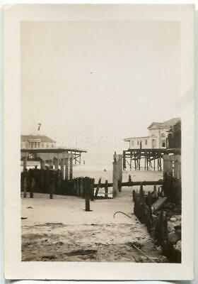 Vintage Photo 1944 Great Atlantic Hurricane Destroys HEINZ PIER Atlantic City NJ