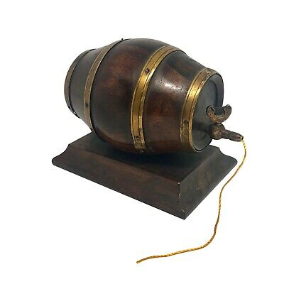 19th Century English Barrel Keg Form String Holder
