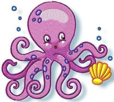 SWEET OCTOPUS  10 MACHINE EMBROIDERY DESIGNS CD or USB