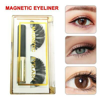 Magnetic Eyeliner 3D Eyelashes Black Waterproof Liquid Liner Use False Lashes