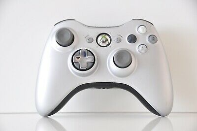 Official OEM Genuine Microsoft xbox 360 Wireless Controller Silver