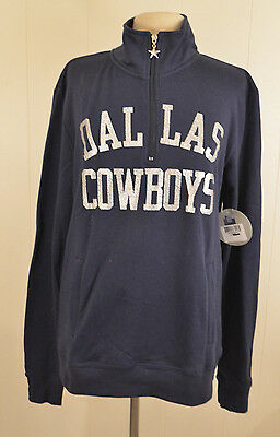 NWT Dallas Cowboys Women's Pullover ¼ Zip Sweatshirt Size Extra Large (XL) NFL