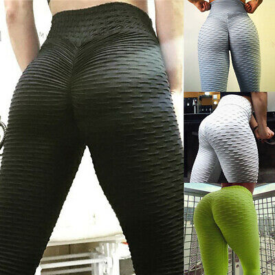 Women's High Waist Yoga Pants Workout Ruched Butt Lift Booty Stretch Leggings A1