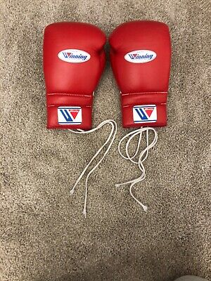 New from Japan 8oz  Hk /& Loop Design Winning Pro Boxing Gloves MS-200-B Red