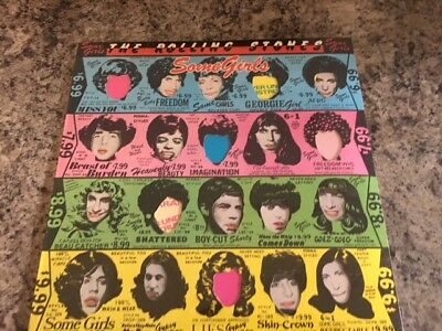 """ROLLING STONES """"SOME GIRLS"""" 2nd EDITION/die cut/CENSORED blu/pink/green/yellow"""