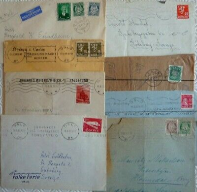 Collection of vintage Norway covers (mainly 1930s)