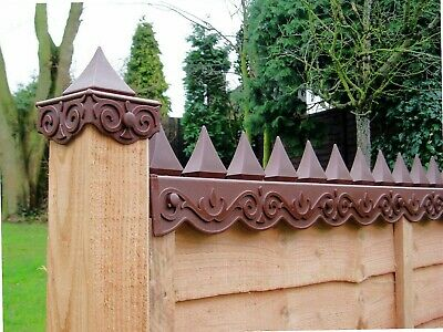 2 pack of Security Fence Guards - Anti Climb Spikes Deter Intruders & Animals
