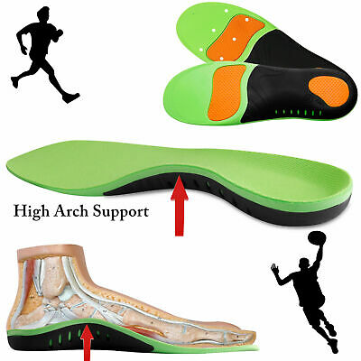Orthotic Insoles Flat Feet Foot High Arch Support Plantar Fasciitis Inserts Pads