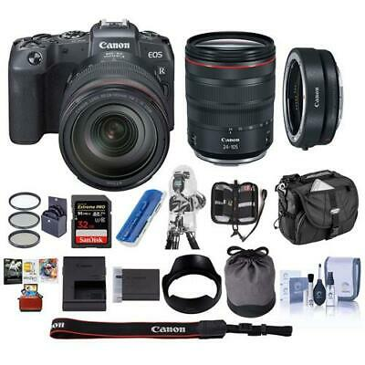 Canon EOS RP Mirrorless Camera with Canon RF 24-105mm F4 L IS Lens W/MAC ACC KIT