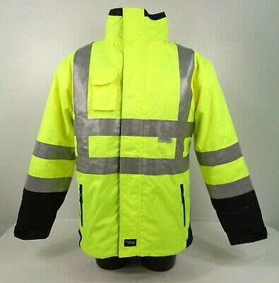 ELKA Hi Vis 2in1 Visible Xtreme Reflective Security Jacket 086100R SMALL H3 SB4
