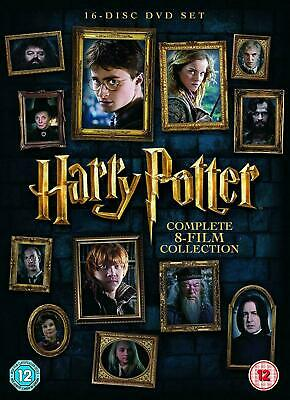 Harry Potter: The Complete 8-film Collection (DVD, 16-Disc Set, 2016) NEW