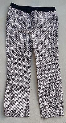 ZARA Woman Ladies Girls 97% Cotton Tailored Brown Beige Trousers Size Large
