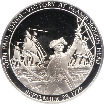 1779 History U.S Navy Silver Proof Medal Sept 23rd Victory FLAMBOROUGH HEAD