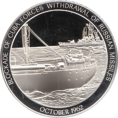 1962 History U.S Navy Silver Proof Medal October CARRIBEAN BLOCKADE