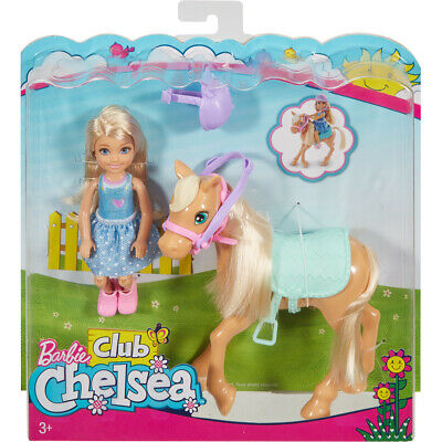 Barbie Club Chelsea Poseable Chelsea Doll & Pony Set with Accessories - DYL42