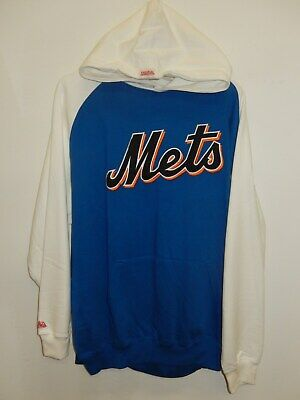 34317171 9601-6 Mens Stitches NEW YORK METS Hooded Hoodie Jersey SWEATSHIRT New BLUE  XL