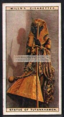 Statue Of Tutankhamen Tutankhamun  Ancient Egypt 90+  Y/O Ad Trade Card