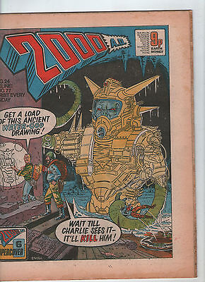 2000AD PROG. # 24 - JUDGE DREDD, SHAKO, INVASION ( 6th AUGUST 1977 )