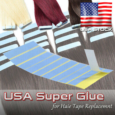 100pcs Tabs Double Sided Adhesive American Super Tape For Tape Hair Replacement