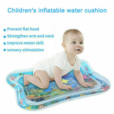 Inflatable Water Play Mat Infants Baby Toddlers Kid Perfect Fun Tummy Time Gift