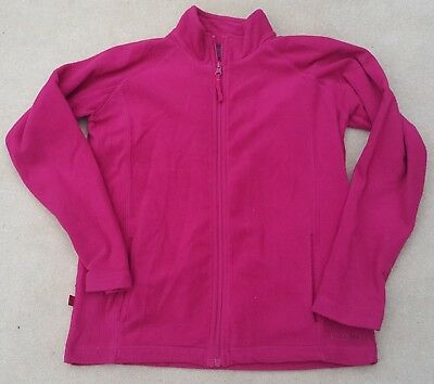 MOUNTAIN LIFE Girls Polyester Fleece Full Zip Jacket Dark Pink 11-12 Yrs