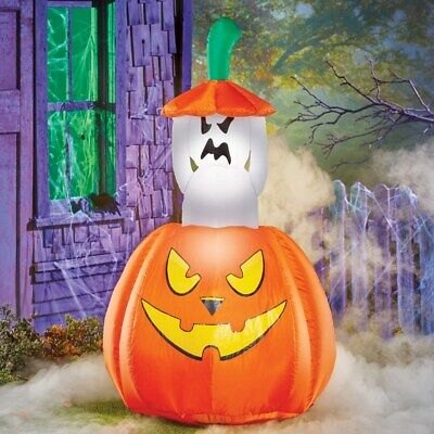 Airblown Inflatable Lighted Pop-up Animated Ghost Halloween Decoration
