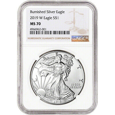 2019-W American Silver Eagle Burnished - NGC MS70