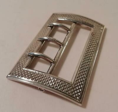 A Very Good Quality Antique Solid Silver Belt Buckle : Chester 1899