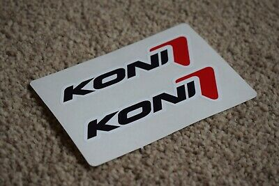 KONI Classic Sport Racing Rally Motorsport Race Car Decal Stickers White 50mm