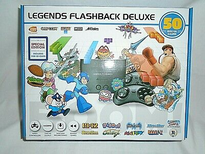 """Legends Flashback Deluxe Game Console with Bonus SD Card - 50 Games """"NEW"""""""