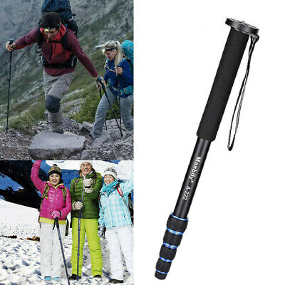 5-Section Carbon Fiber DSLR Camera Monopod Unipod Walking Stick