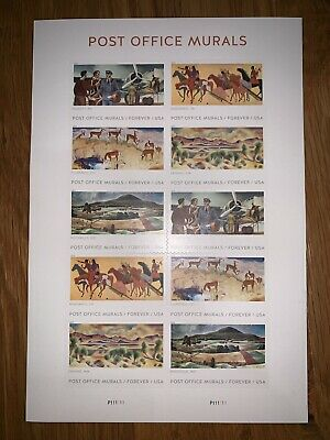 2019 Forever Post Office Murals stamps