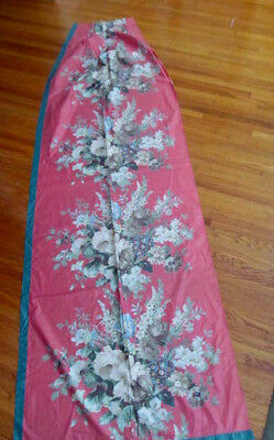 Never Used~1 Floral 1940s Vintage Polished Cotton Fabric Drapery Curtain Panel